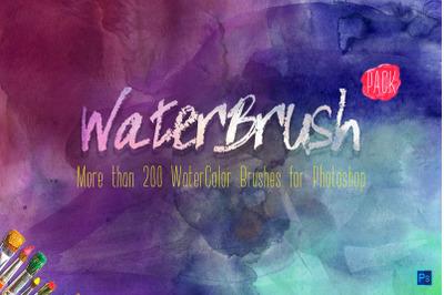 WaterBrush WaterColor Brushes PACK [ -20%]