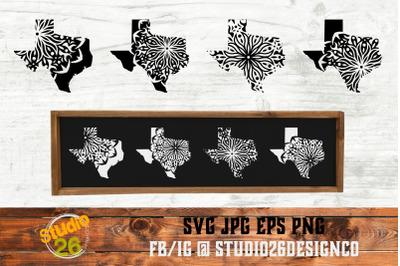 TX State Mandala Bundle - SVG PNG EPS