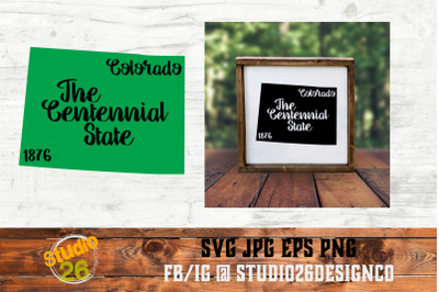 Colorado - State Nickname & EST Year - 2 Files - SVG PNG EPS