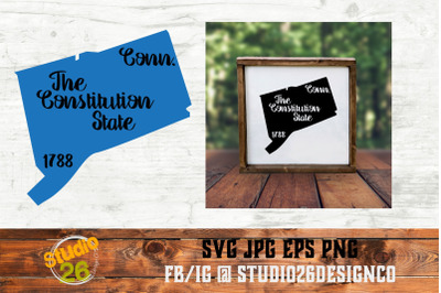 Connecticut - State Nickname & EST Year - 2 Files - SVG PNG EPS