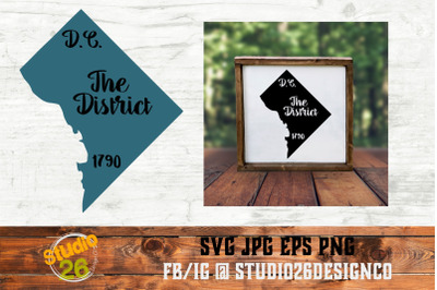 D.C. - State Nickname & EST Year - 2 Files - SVG PNG EPS