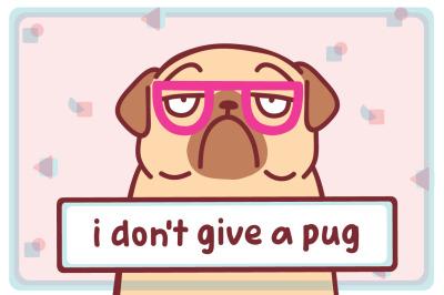 Funny Pug Dog Collection