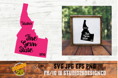 Idaho - State Nickname & EST Year - 2 Files - SVG PNG EPS
