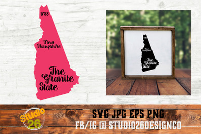 New Hampshire - State Nickname & EST Year - 2 Files - SVG PNG EPS