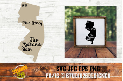 New Jersey - State Nickname & EST Year - 2 Files - SVG PNG EPS