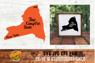 New York - State Nickname & EST Year - 2 Files - SVG PNG EPS