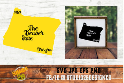 Oregon - State Nickname & EST Year - 2 Files - SVG PNG EPS
