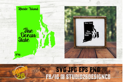 Rhode Island - State Nickname & EST Year - 2 Files - SVG PNG EPS