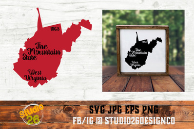 West Virginia - State Nickname & EST Year - 2 Files - SVG PNG EPS