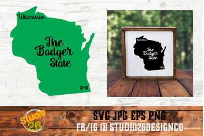 Wisconsin - State Nickname & EST Year - 2 Files - SVG PNG EPS