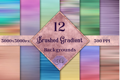 Brushed Gradient Backgrounds - 12 Image Textures