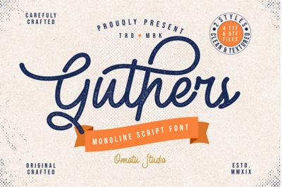 Guther - Monoline Script Font