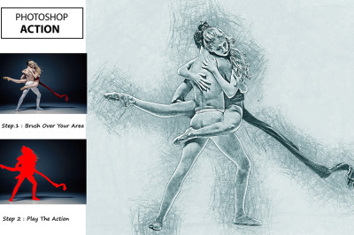 Pencil Sketch Art - Photoshop Action