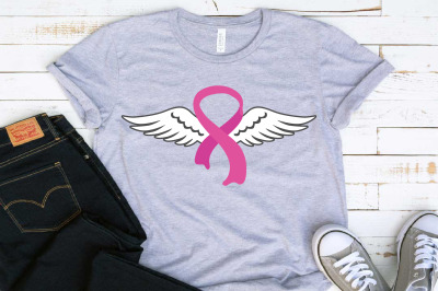 Breast Cancer Angel Wings SVG Cancer SVG Fight for a cure 1469s