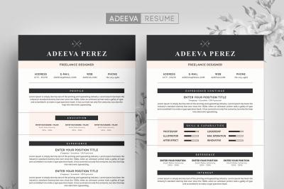 Modern Resume Template Perez