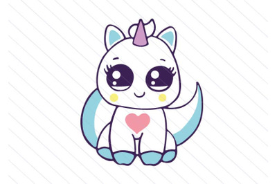 Unicorn cat svg, kitty vector clipart, Kawaii cat svg