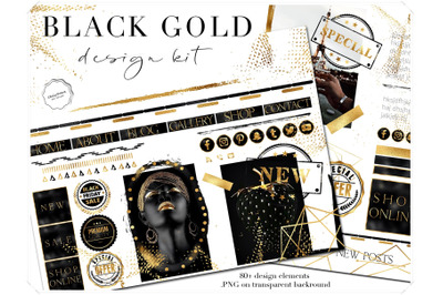 Gold on Black Design Bundle