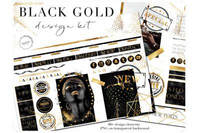 Gold on Black Design Bundle