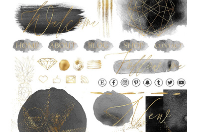 Black and Gold Design Bundle