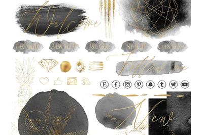 Black and Gold Design Bundle