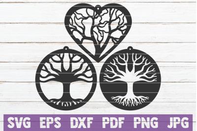 Tree Earrings SVG Cut File Templates