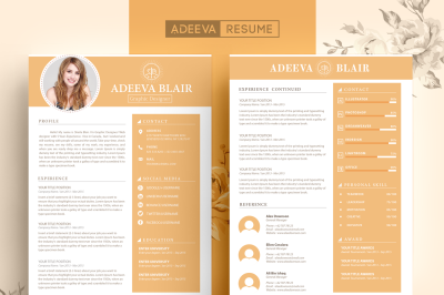 Clean Resume Template Blair