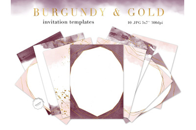 Burgundy and Gold Invitation Template