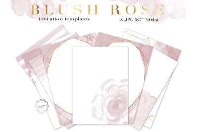 Blush Pink Watercolor Invitation Template