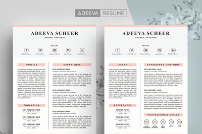 Simple Resume Template Scheer