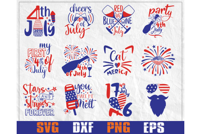 4th of July svg Bundle, American svg bundle, USA flag svg Bundle,