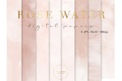 Blush Watercolor Texture Papers