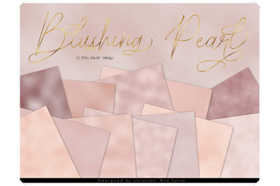 Blush Pink Pearly Textures Pack