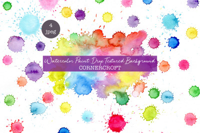 watercolor paint drop effect, watercolor texture, paint drops