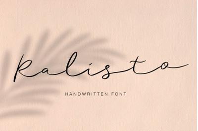 Ralisto Handwritten