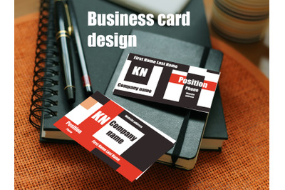 Design - business cards layout.