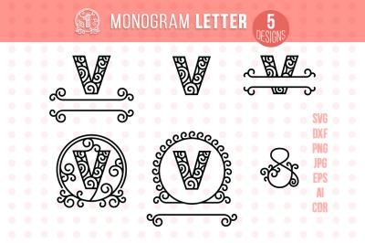 Monogram Letter V