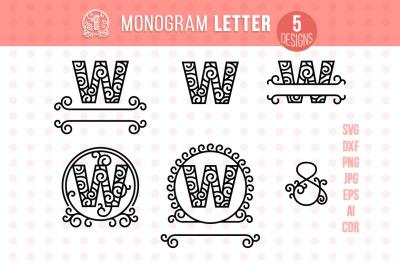 Monogram Letter W