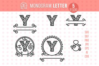 Monogram Letter Y