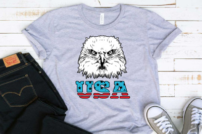 Eagle Usa Flag Svg fourth USA birds united states 4th of July 1408s