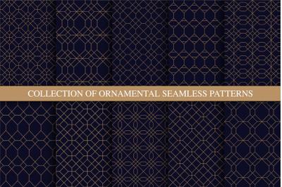 Luxury ornamental seamless patterns