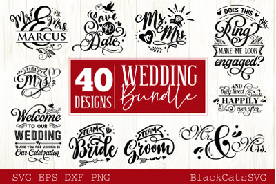 Wedding bundle SVG vol 1 - 40 designs