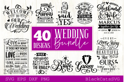 Wedding bundle SVG vol 2 - 40 designs