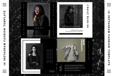 Black Fashion Instagram Template