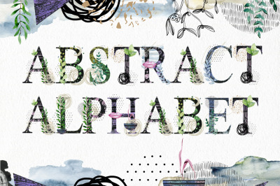 Abstract alphabet clipart.