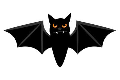Halloween flying bat isolated on white vector