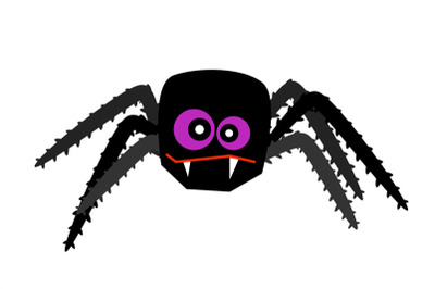 Halloween spider isolated on white vector
