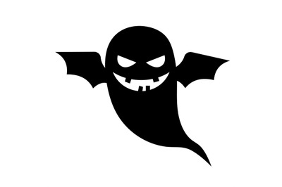 Scary ghost vector halloween silhouette
