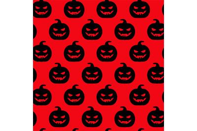 Autumn halloween pumpkin seamless pattern