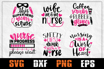 Nurse Life SVG Quote Bundle, Nurse Svg Bundle, Nurse Funny, Nursing de