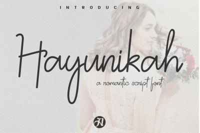 HAYUNIKAH a Romantic Script Font